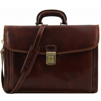 Кожаный портфель Tuscany Leather Napoli TL10027 brown