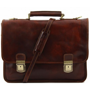 Кожаный портфель Tuscany Leather Firenze TL10028 brown