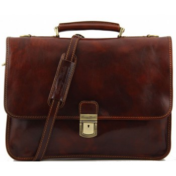 Кожаный портфель Tuscany Leather Torino TL10029 brown