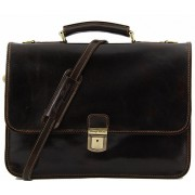 Кожаный портфель Tuscany Leather Torino TL10029 dark brown
