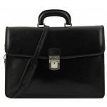 Кожаный портфель Tuscany Leather Amalfi TL10050 black