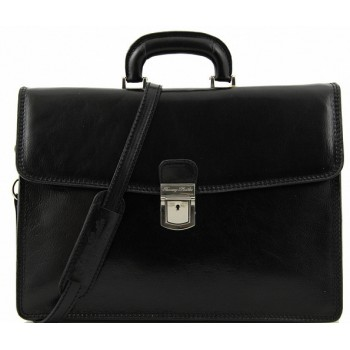 Кожаный портфель Tuscany Leather Amalfi TL10050 black