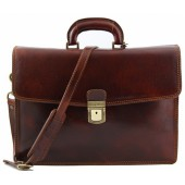Кожаный портфель Tuscany Leather Amalfi TL10050 brown