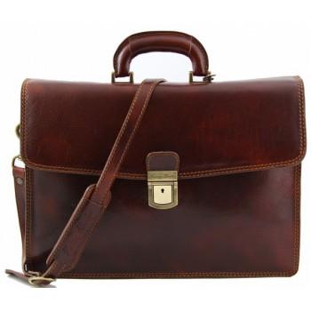 Кожаный портфель Tuscany Leather Amalfi TL10050 brown