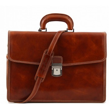 Кожаный портфель Tuscany Leather Amalfi TL10050 honey
