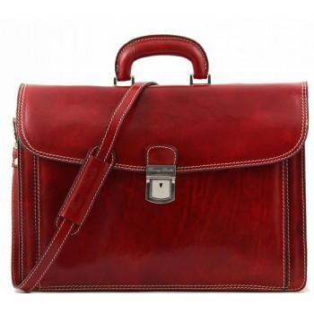 Кожаный портфель Tuscany Leather Amalfi TL10050 red