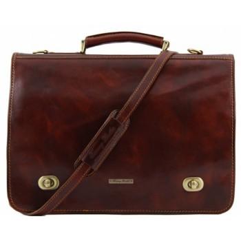 Кожаный портфель Tuscany Leather Siena TL10054 brown