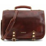 Кожаный портфель Tuscany Leather Capri TL10068 brown