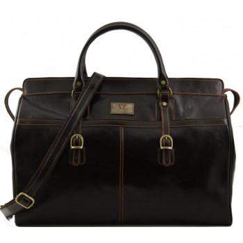 Дорожная сумка Tuscany Leather Budapest TL10130 dark brown