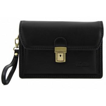 Мужская сумка на запястье Tuscany Leather Tommy FC140246 black
