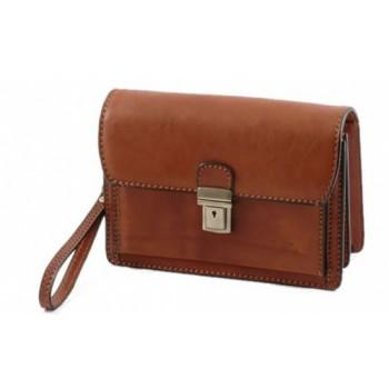 Мужская сумка на запястье Tuscany Leather Tommy FC140246 brown