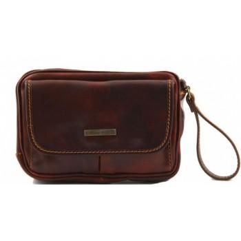 Мужская сумка на запястье Tuscany Leather Ivan TL140849 brown