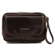 Мужская сумка на запястье Tuscany Leather Ivan TL140849 dark brown