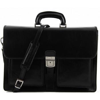 Кожаный портфель Tuscany Leather Assisi TL140929 black
