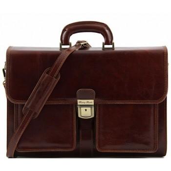 Кожаный портфель Tuscany Leather Assisi TL140929 brown