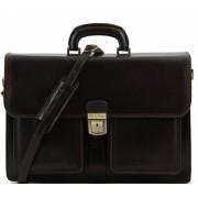 Кожаный портфель Tuscany Leather Assisi TL140929 dark brown