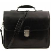 Кожаный портфель Tuscany Leather Vernazza TL141354 black