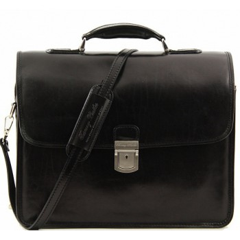Кожаный портфель Tuscany Leather Vernazza TL141354 black