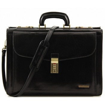 Кожаный портфель Tuscany Leather Riomaggiore TL141097 black