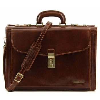 Кожаный портфель Tuscany Leather Riomaggiore TL141097 brown