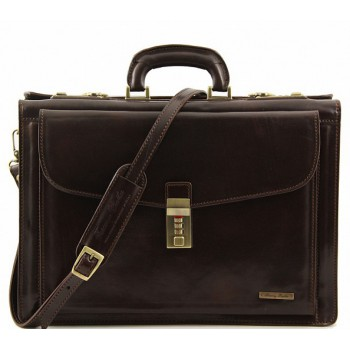 Кожаный портфель Tuscany Leather Riomaggiore TL141097 dark brown