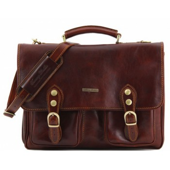Кожаный портфель Tuscany Leather Modena TL100310 brown