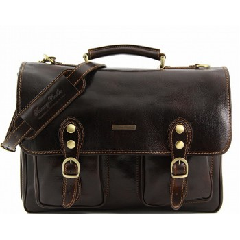 Кожаный портфель Tuscany Leather Modena TL100310 dark brown