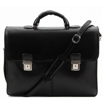 Кожаный портфель Tuscany Leather Bolgheri TL141144 black