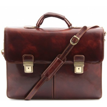 Кожаный портфель Tuscany Leather Bolgheri TL141144 brown
