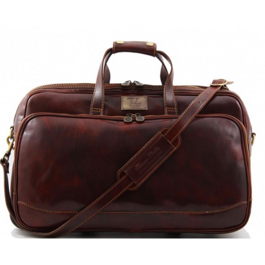 38936f157782 CarryBag - Кожаная дорожная сумка на колесах Tuscany Leather Bora ...