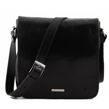 Сумка свободного стиля Tuscany Leather Messenger TL90164 black