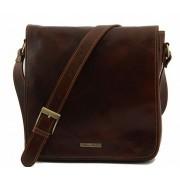 Сумка свободного стиля Tuscany Leather Messenger TL90164 brown