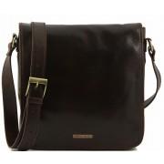 Сумка свободного стиля Tuscany Leather Messenger TL90164 dark brown