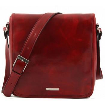 Сумка свободного стиля Tuscany Leather Messenger TL90164 red