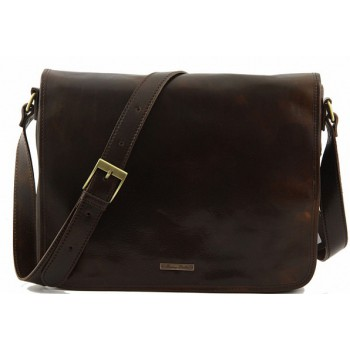 Сумка свободного стиля Tuscany Leather Messenger TL141198 dark brown