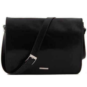 Сумка свободного стиля Tuscany Leather Messenger double TL90475 black