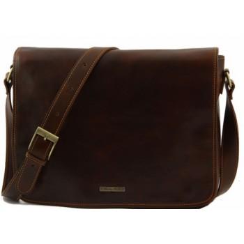Сумка свободного стиля Tuscany Leather Messenger double TL90475 brown