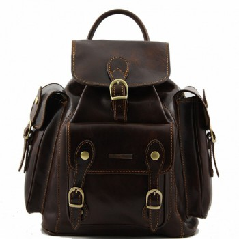 Рюкзак Tuscany Leather Pechino TL9052 dark brown