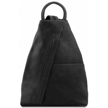 Кожаный рюкзак Tuscany Leather Shanghai TL140963 black