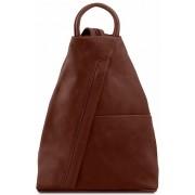 Кожаный рюкзак Tuscany Leather Shanghai TL140963 brown