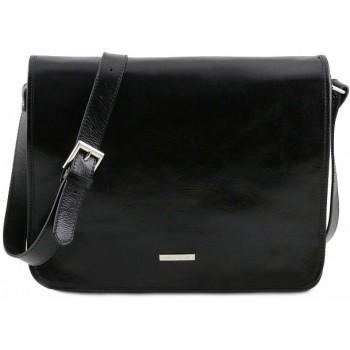 Сумка свободного стиля Tuscany Leather Messenger TL141254 black