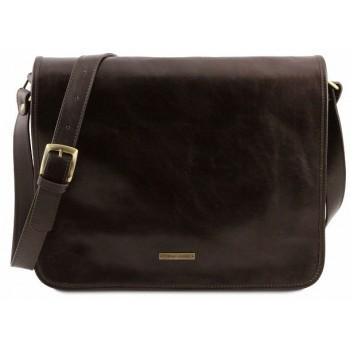 Сумка свободного стиля Tuscany Leather Messenger TL141254 dark brown