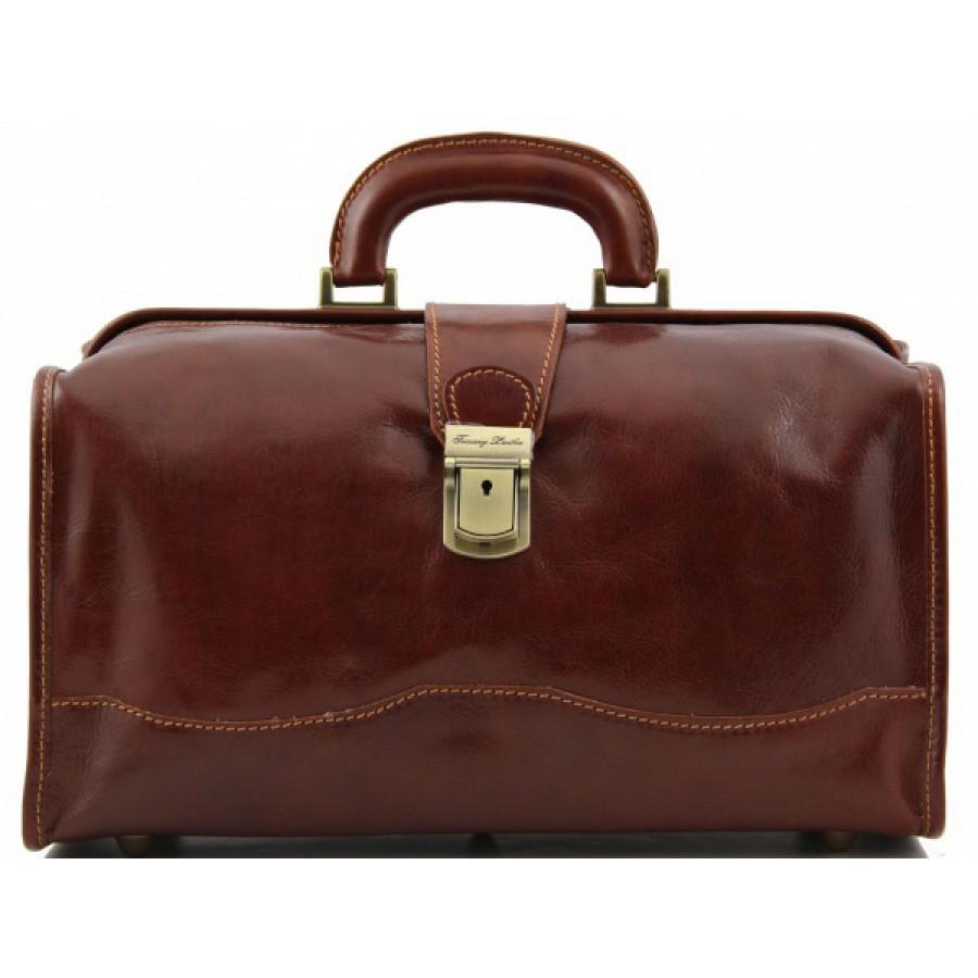 e15ecaa7055b Кожаный саквояж Tuscany Leather Raffaello TL10077 коричневого цвета