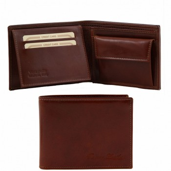 Эксклюзивный кожаный бумажник Tuscany Leather TL140763 brown