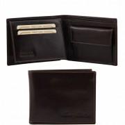 Эксклюзивный кожаный бумажник Tuscany Leather TL140763 dark brown