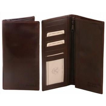Эксклюзивный кожаный бумажник Tuscany Leather TL140777 dark brown