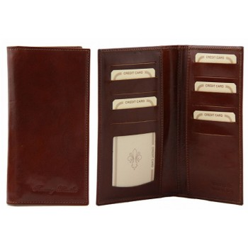 Эксклюзивный кожаный бумажник Tuscany Leather TL140784 brown