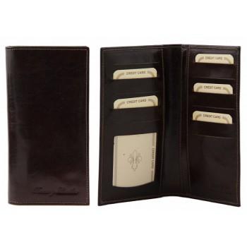 Эксклюзивный кожаный бумажник Tuscany Leather TL140784 dark brown