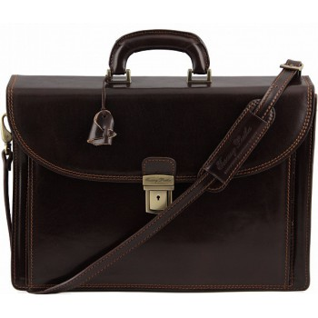 Портфель Tuscany Leather Taormina TL141205 dark brown