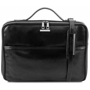 Кожаная сумка для ноутбука Tuscany Leather Vicenza TL141240 black
